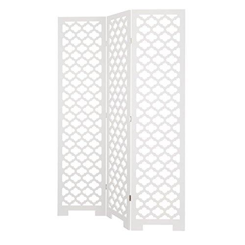 Dcasa - Biombo diseño árabe Blanco Madera salón