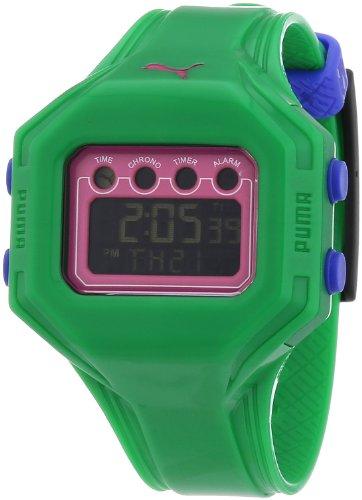 Puma A.PU910772007 - Reloj de mujer de cuarzo, correa de plástico color verde