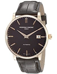 Frederique Constant Slimline Men's 40mm Automatic Brown Leather Watch FC-316C5B9