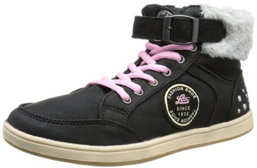 Lico Pricilla 530278 Mädchen Sneaker Schwarz (Schwarz/Rosa)