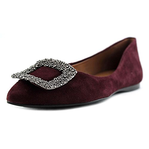 FS/NY POSH Daim Chaussure Plate Burgundy