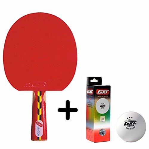 GKI Dragon Table Tennis Combo Set (GKI Dragon Table Tennis Racquet + GKI Premium 3 Star 40 Table Tennis Ball, Box of 3 - White)  available at amazon for Rs.1171