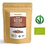 Roh Kakaobohnen Bio 400g | Organic Raw Cacao Beans | 100% Rohkost, Natürlich, Rein | Produziert in Peru aus der Theobroma Cocoa Pflanze | Superfood reich an Antioxidantien, Mineralien und Vitaminen.