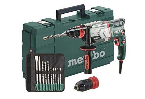 Metabo 600697510 Multihammer UHE 2660-2 QUICK SET | + Futter SDS-plus, Schnellspannfutter, Handgriff, Tiefenanschlag, Koffer, SDS-plus-Bohrer-/Meißelsatz (10-tlg.) | (2.8 J / 800 W / 3.1 kg)
