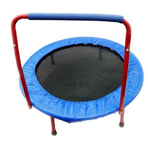 JHNEA Indoor Trampolin, Fitness Trampolin mit Haltegriff Griff Mini Trampolin Workout Trampolin Sprungmatte Rebounding Trampolin für Zuhause,36in