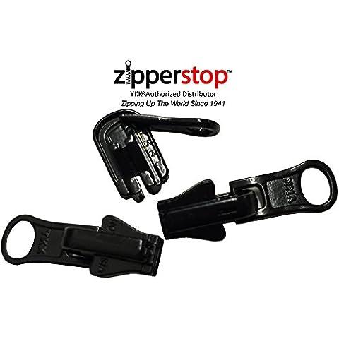 zipperstop Wholesale Distribuidor YKK® Kit de reparación Solución, YKK® # 5moldeado Reversible Fancy Tiradores Tiradores de cremallera Slider Made in USA–3por