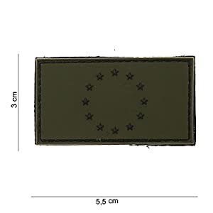 """Patch 3D PVC Drapeau """"Europe"""" Vert / Cosplay / Airsoft / Camouflage"""