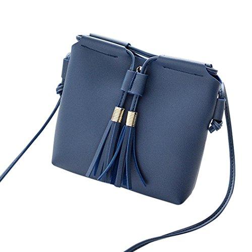 Dakine Frauen Für Messenger Bag (UFACE Quaste UmhäNgetasche Messenger Bag Handytasche GeldböRse Mode Frauen MüNztasche (Blau))