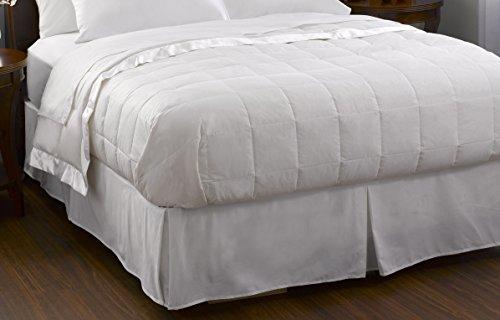 Pacific Coast Feather Company Baumwolle Bezug mit Satin Bordüre Hypoallergen Daunen Decke, weiß, Full/Queen