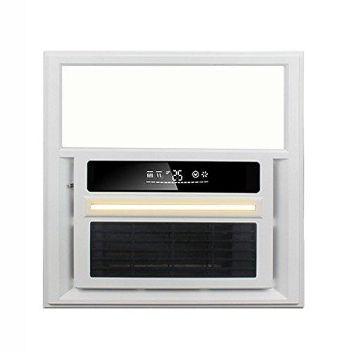 HWF Chauffe-salle de Bain LED Threeinone Multifonction Salle De Bains Lampe De Plafond Lampes Plafond Lumière Bain Air Ventilation Nuit Lumière Smart Switch 33 × 33 cm Plafonnier