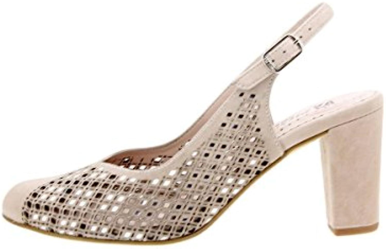 PieSanto Calzado Mujer Confort de Piel 1277 Zapato Fiesta Cómodo Ancho