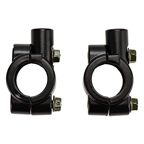 2 PCS 7/8'' Abrazaderas Espejo para Manillar de Moto 10 mm, de...