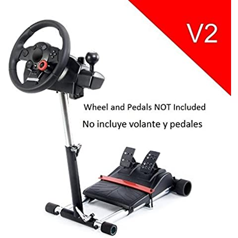 V2 Racing Steering Wheelstand for Logitech Driving Force Pro, GT, EX and DriveFX Wheels (Not compatible with G920, G29, G27, G25); Wheel Stand Pro. Wheel/Pedals Not included. by Wheel Stand Pro