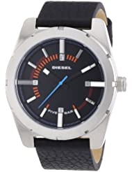 Diesel Herren-Armbanduhr XL Analog Quarz Leder DZ1597