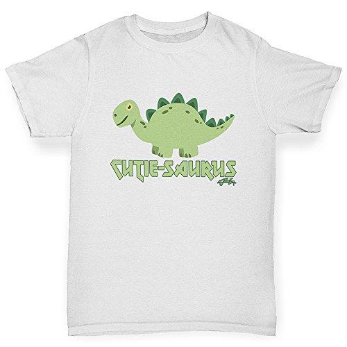 TWISTED ENVY Boys Funny tee Shirts Cute-Saurus Cute Dinosaur