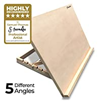 PABLO® - A2 Wooden Art & Craft Work Station - A2 Adjustable Wooden Desk / Table Easel / Drawing Board - Ideal for sketching, drawing & planning - Made from Beechwood - 5 different angles