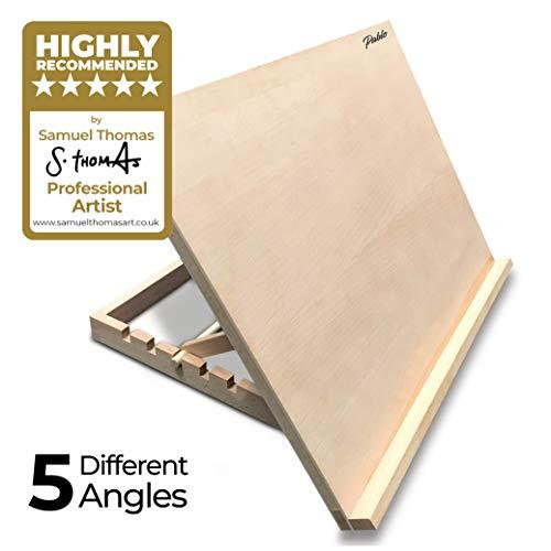 Pablo - A3 höhenverstellbare Tisch-Staffelei aus Holz