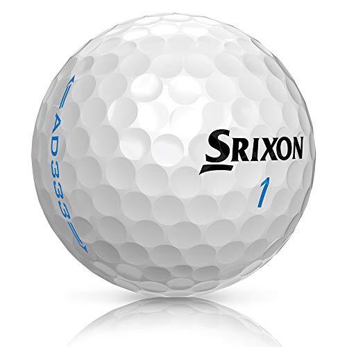 Srixon AD333 Balles de Golf - Modèle 2018 - 1 Douzaine - Nouveau - blanc
