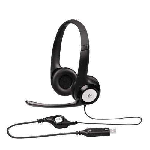 """Komfort/USB-Headset, """"ClearChat"""" von Logitech H390, Schwarz (Logitech H390 Usb Headset)"""
