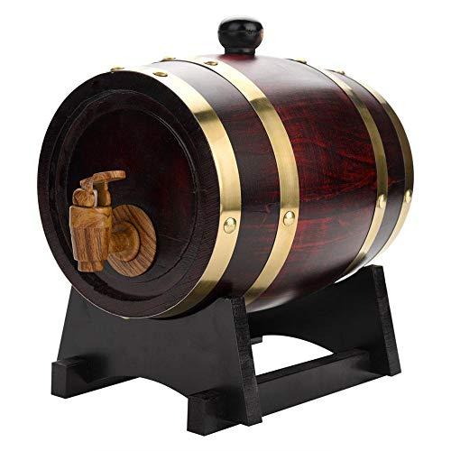 EBTOOLS Eichenfass, 1,5 l Vintage-Holz Eichenholz Weinfass Eiche Lagerung Fass Eingebauter Aluminiumfolie Liner für die Lagerung Ihres eigenen Whisky Bier Wein Bourbon Brandy Hot Sauce