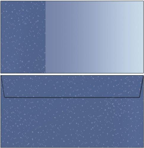 Motiv - Briefumschläge blau 100 Stück DIN lang ohne Fenster 6293