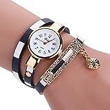 XKC-watches Herrenuhren, Damen/Kinder Modeuhr/Armbanduhr / Armband-Uhr Quartz Mehrfarbig PU Band Vintage/Böhmische / Bettelarmband/Armreif / BequemSchwarz