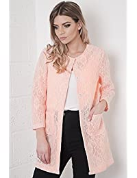 Sheer Lace Coat in Pink 14