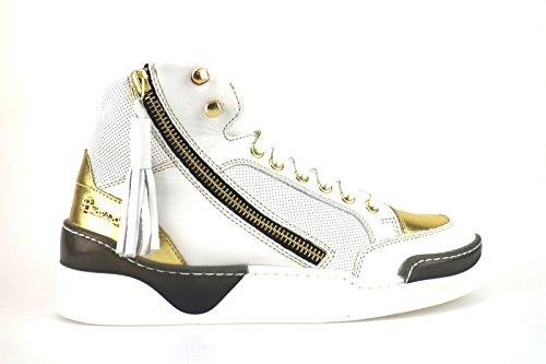 scarpe donna BRACCIALINI sneakers bianco pelle AH384 (39 EU)