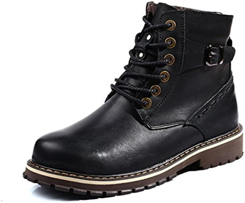 ZQ@QXCabeza de invierno algodón moda zapatos botas cortas cálida piscina frock hombres zapatos de algodón negro...