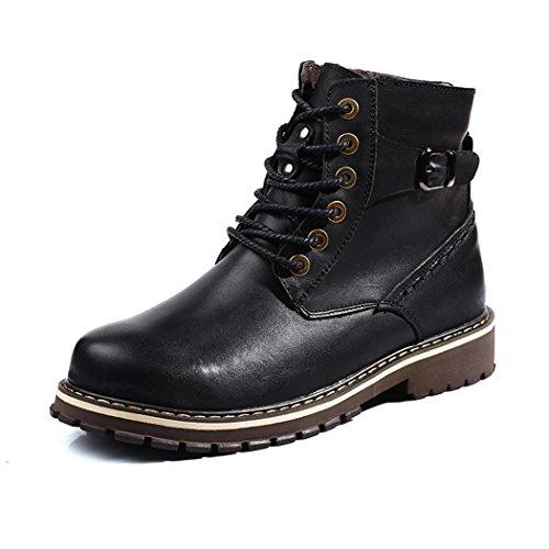 Hhy-confortable Et Élégant Respirant Hiver Coton Chaussures Chaudes Bottes Salopettes En Plein Air Pour Hommes Chaussures En Coton Noir Chaussures Simples