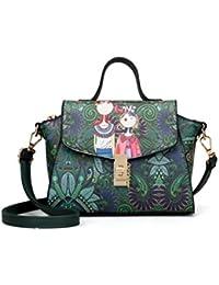 Premium Cartoon Print Twist Lock Chain Detail Crossbody Bag