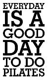 Quotidiano è un buon giorno di salute Formazione motivazione allenamento Pilates, palestra, Fitness, Cuore vita famiglia love House Citazioni da parete vinile adesivi decalcomanie Art Decor fai da te
