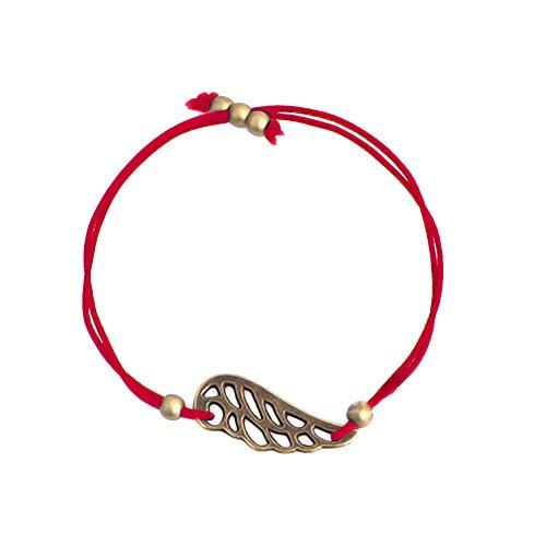 Akki Freundschaft armband glücksarmband endless infinity peace band bronze schmuck Dünn Seil Rocailles Perlen Charm Armbänder und Damen-Halskette Rot Western Freundschaft Armbänder