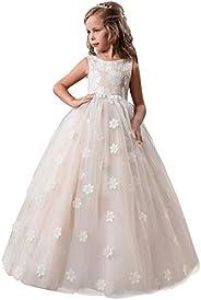 TTYAOVO Ragazze Ricamo Principessa Nozze Compleanno Festa Fiore Vestito