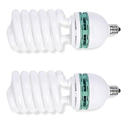 Phot-R 2 x 1000W (200W) 220V 5500K E27 Sockel CFL Spiral Continuous Daylight Balanced Fluoreszierende Energiesparlampen für professionelle Fotografie (Digital Studio Beleuchtung)