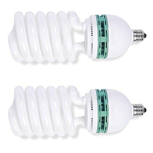 Zwei Fluoreszierende Leuchte Licht (phot-r 2x 1000W (200W) 220V 5500K Sockel E27CFL Spirale kontinuierliche Tageslicht Ausgewogene fluoreszierend energiesparend Leuchtmittel für die professionelle Fotografie Foto Video Studio Beleuchtung)