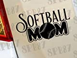 Softball Mamma Pallina da Baseball Sport Hobby ragazze per auto, finestra divertenti vinile van Laptop Cuore Decor Home Live Kids Funny - Sticker, decalcomania da parete Moto