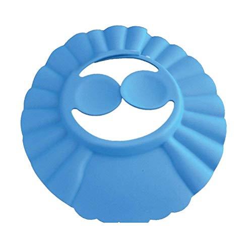 LEXPON Kinder Dusche Cap Baden Haar Waschen Schutz Hat Shampoo Schild für Kinder Babys mit Ohr Schutz Pads (blau)