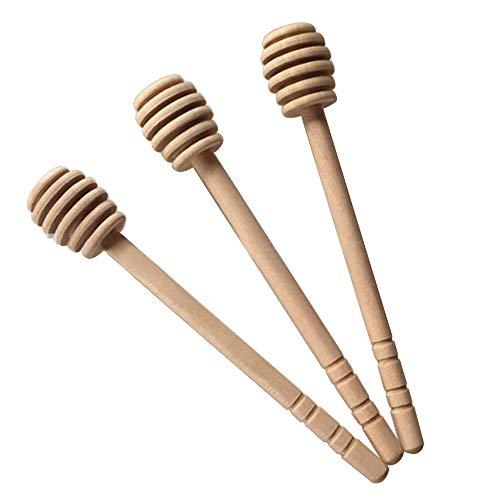 EBILUN Holz Honig Rührstab, 5 stücke 15 cm Natürliche Holz Bienenzucht Honig Rührstab Hammer Bee Werkzeug (Typ 1) -