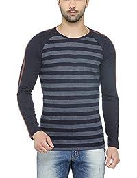 TSX Men's Striped Round Neck Full Sleeve T-shirt