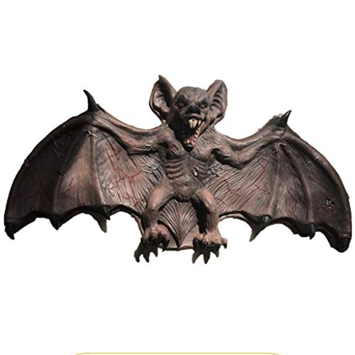 Komische Kostüm Paare - Me Halloween Dekoration, Übergroße Fledermaus Simulation Latex Indoor Und Outdoor Spukhaus Requisiten,90 * 115 * 56cm