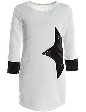 BEZLIT - Blusa - Camisa - Estrellas - Cuello redondo - Manga Larga - para niña