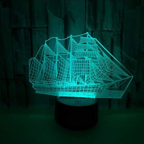 Mmneb Segeln 3D Nacht Lampe Neutral Usb Led NachtlichtLed Smart Home Remote Touch Schalter Weihnachten Dekorative Lichter -