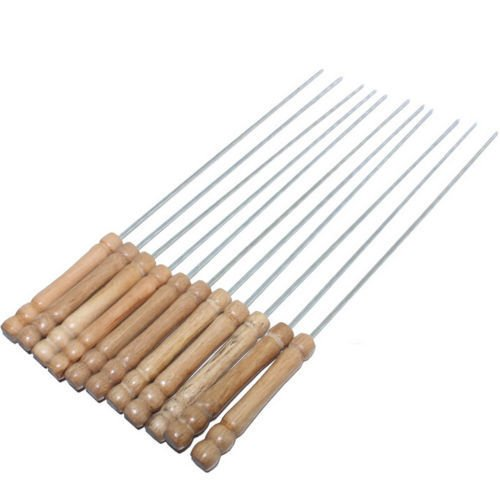 Anne -Kee Skewers For Tandoor Barbeque Grill Bbq Steel Needles 16 Inches 7 Nos
