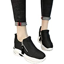 2c592fc6d9624 Sonnena Chaussure Femmes Confortable Basket a Talon Compensee - Plateforme  Sneakers pour Femmes, Talon de