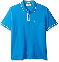 Original Penguin Mens Earl Polo, French Blue, Large