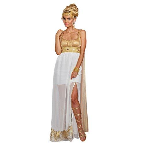 Dreamgirl Damen Kostüm Athena Kleid weiß-Gold Griechin Fasching Römerin Karneval ()