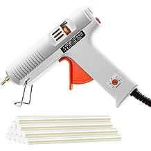 [Versión Industria 100 V] TOPELEK Pistola de Silicona Caliente con 12 Piezas de Pegamento, para la Escuela DIY Artes y Proyectos de Artesanías, Reparaciones Rápidas para el Hogar