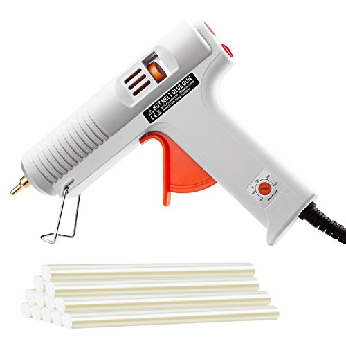 Amazon.co.uk - TopElek 100W Hot Glue Gun with 12pcs Glue Sticks, Temperature Control