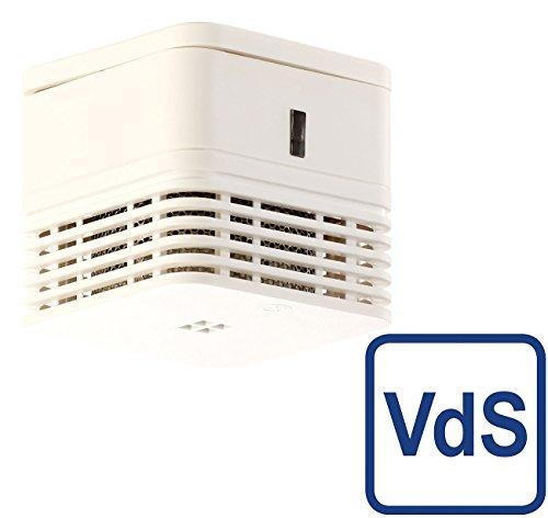 VisorTech Rauchmelder Mini: Mini-Design-Rauchwarnmelder mit 10-Jahres-Batterie, VDs-Zertifiziert...